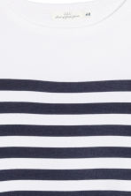 Knitted jumper - White/Striped - Ladies | H&M GB 3