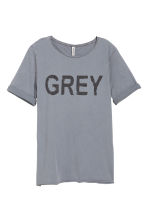 Printed T-shirt - Grey - Ladies | H&M CN 2