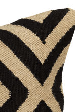 Jute cushion cover - Black/Patterned - Home All | H&M GB 4