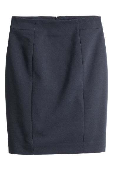 Short pencil skirt - Dark blue - Ladies | H&M GB