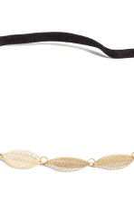 Hairband with metal leaves - Gold - Ladies | H&M CN 2