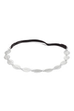 Hairband with metal leaves - Silver - Ladies | H&M CN 1