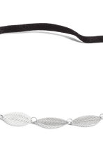 Hairband with metal leaves - Silver - Ladies | H&M CN 2