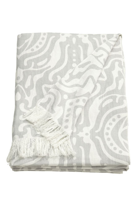 Jacquard-weave cotton blanket