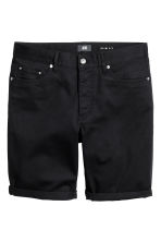 Twill shorts Slim fit - Black - Men | H&M CN 2