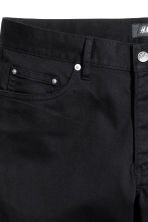 Twill shorts Slim fit - Black - Men | H&M CN 3
