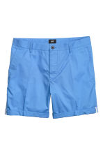 Cotton shorts Slim fit - Bright blue - Men | H&M CN 2