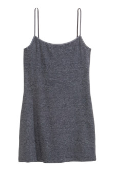 Long jersey strappy top