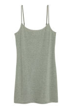 Long jersey strappy top - Khaki green - Ladies | H&M CN 2