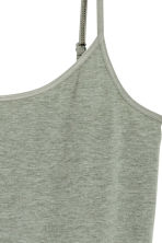 Long jersey strappy top - Khaki green - Ladies | H&M CA 3