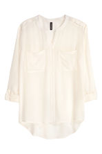 V-neck blouse - White - Ladies | H&M GB 2