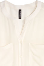 V-neck blouse - White - Ladies | H&M GB 3