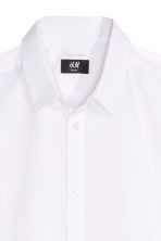 Short-sleeved Easy iron shirt - White - Men | H&M CN 3