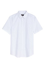 Short-sleeved Easy iron shirt - White/Spotted - Men | H&M CN 2