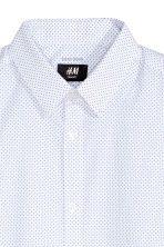 Short-sleeved Easy iron shirt - White/Spotted - Men | H&M CN 3