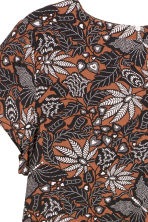 H&M+ Short-sleeved blouse - Brown/Patterned - Ladies | H&M CN 2