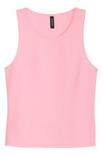 Textured top - Pink - Ladies | H&M CN 1