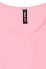 Textured top - Pink - Ladies | H&M CN 2