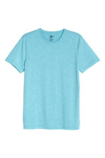 Round-neck T-shirt Slim fit - Turquoise marl - Men | H&M CN 2