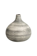 Small stoneware vase - White/Black striped - Home All | H&M CN 3