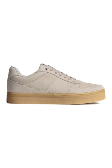 Leather trainers - Light mole - Ladies | H&M CN 1