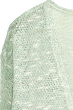 Fine-knit cardigan - Mint green marl - Kids | H&M CN 3