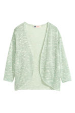 Fine-knit cardigan - Mint green marl - Kids | H&M CN 2