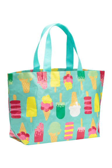Beach bag - Turquoise/Ice cream - Home All | H&M GB