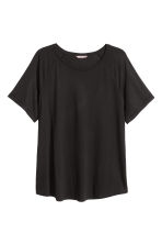 H&M+ Short-sleeved top - Black - Ladies | H&M 4