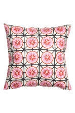 Patterned cushion cover - White/Grapefruits - Home All | H&M CN 1