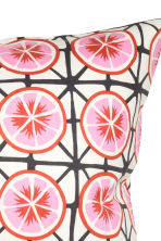 Patterned cushion cover - White/Grapefruits - Home All | H&M CN 2