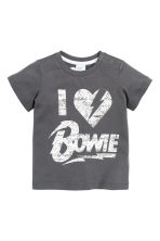 T-shirt with a print motif - Dark grey/David Bowie - Kids | H&M GB 1