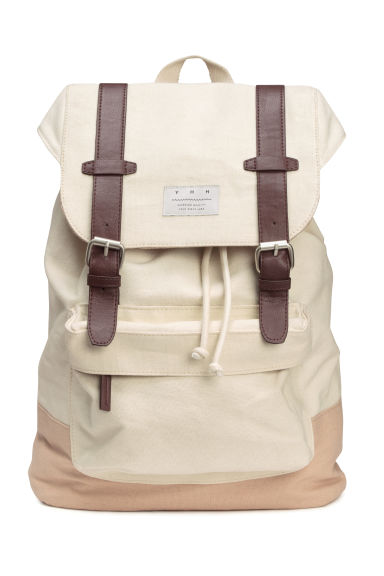 Canvas backpack - Natural white - Men | H&M CN 1
