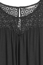 H&M+ Top with a lace yoke - Black - Ladies | H&M CN 3