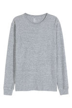 Waffled top - Grey-blue marl - Men | H&M CN 2