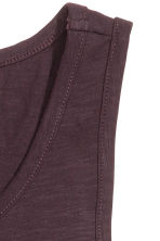 Vest top - Dark plum - Men | H&M CN 3