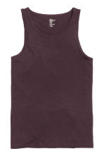 Vest top - Dark plum - Men | H&M CN 2