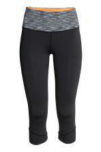 3/4-length yoga tights - Black - Ladies | H&M CN 2