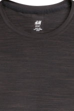 Long-sleeved running top - Black marl - Ladies | H&M CN 4