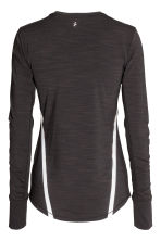 Long-sleeved running top - Black marl - Ladies | H&M CN 3