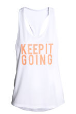 Sports top - White - Ladies | H&M CN 2