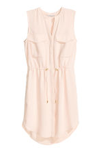 Sleeveless shirt dress - Powder -  | H&M CN 1