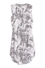 Sleeveless shirt dress - White/Patterned - Ladies | H&M CN 2