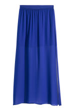 Chiffon skirt - Cornflower blue - Ladies | H&M CN 1