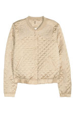 Quilted jacket with embroidery - Beige/Gold - Ladies | H&M CN 3