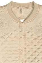 Quilted jacket with embroidery - Beige/Gold - Ladies | H&M CN 4