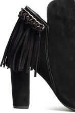 Suede boots with fringes - Black - Ladies | H&M CN 4