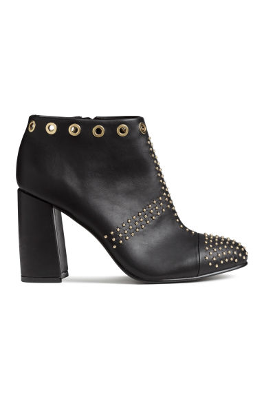 Ankle boots with studs - Black - Ladies | H&M CN 1
