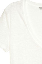 Linen jersey top - Natural white - Ladies | H&M CN 5