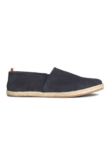 Suede espadrilles - Dark blue - Men | H&M CN 1